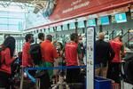 Atletas portugueses antes da partida para o Japão
