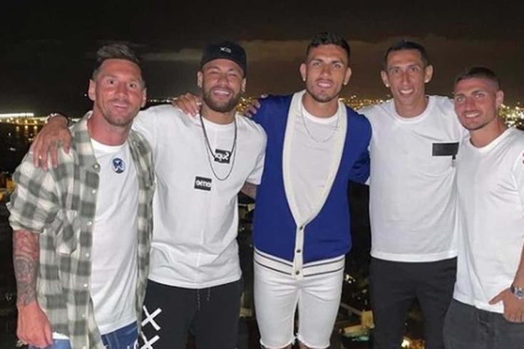 Messi, Neymar, Paredes, Di María e Verratti em Espanha