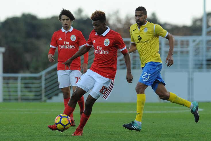 Uma novidade no treino do Benfica
