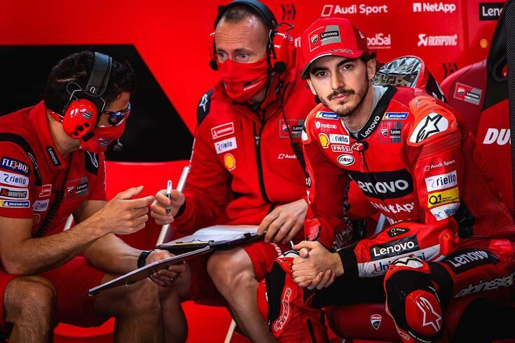 Francesco Bagnaia piloto da Ducati