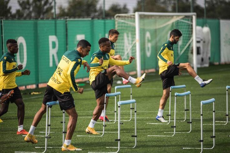 Plantel do Sporting prepara jogo da quinta jornada