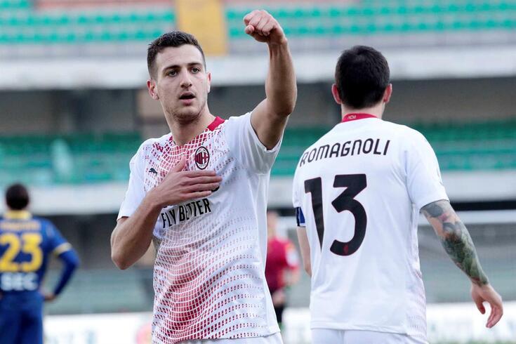 Diogo Dalot marcou no Verona-Milan