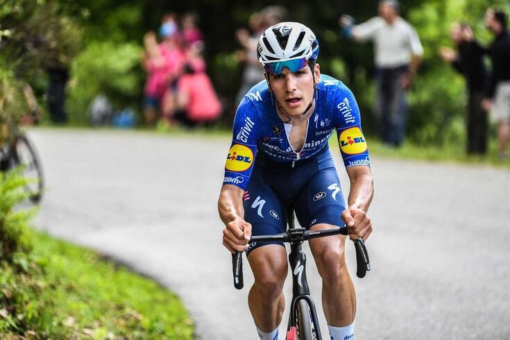 O ciclista português João Almeida, da Deceuninck-QuickStep