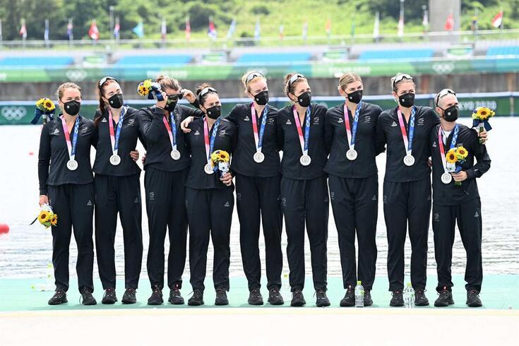 Nova Zelândia conquistou medalha de prata na prova de oito no remo