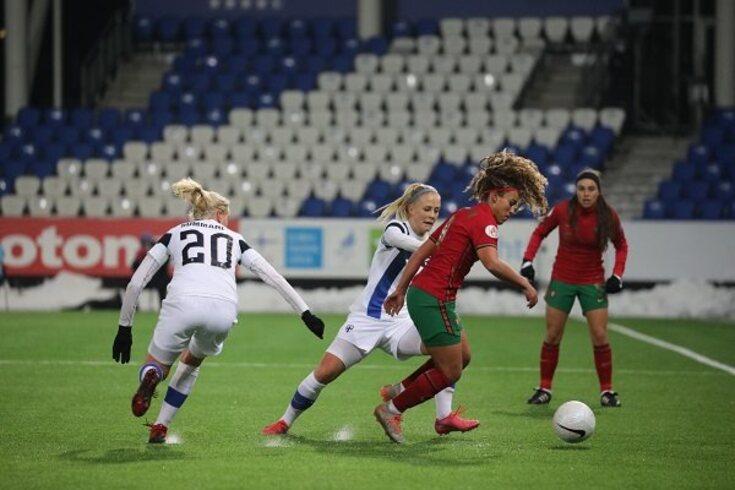 Portugal e Finlândia defrontaram-se em jogo da penúltima ronda da fase de apuramento do Euro22