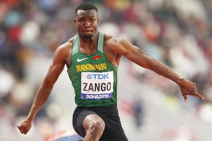 Hugues-Fabrice Zango bate recorde no triplo salto