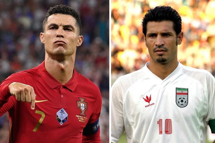 Cristiano Ronaldo e Ali Daei: ambos marcaram 109 golos pelas suas seleções