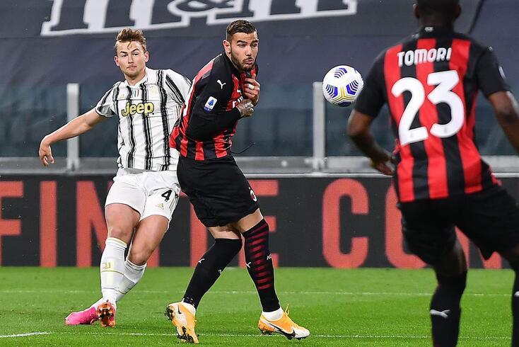 Intenso duelo entre Juventus e Milan