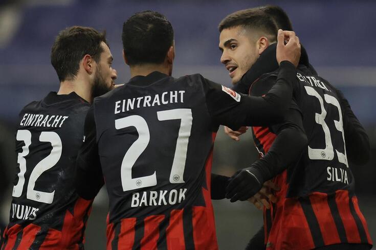 André Silva está em grande forma no Eintracht Frankfurt
