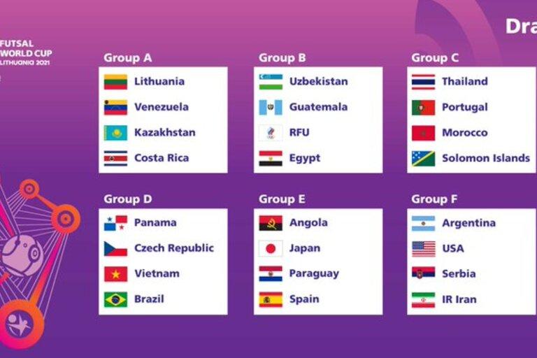 Futsal: confira o calendário completo do Mundial da Lituânia