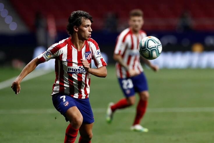 epa08513226 Atletico Madrid's Joao Felix in action during the Spanish LaLiga soccer match between Atletico