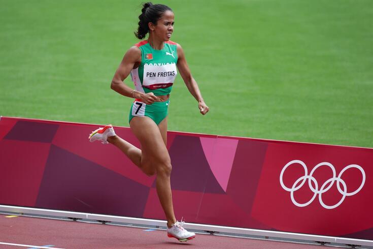 Marta Pen em ação nos Jogos Olímpicos