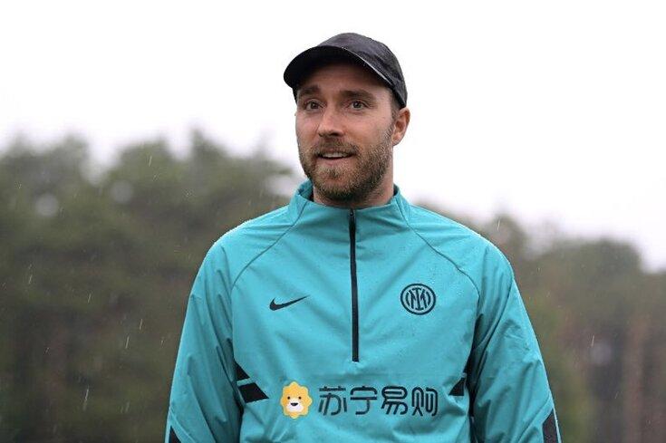 Eriksen visitou o Inter esta manhã