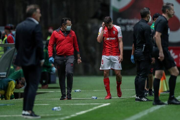 Abel Ruiz saiu lesionado aos 52' na receção ao Tondela.