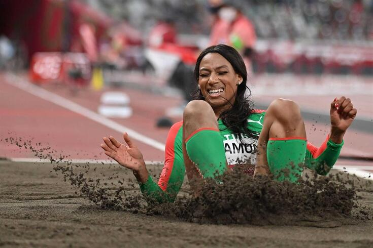 Patrícia Mamona conquistou a medalha de prata no triplo salto