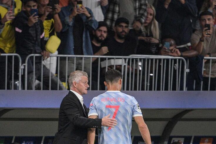Solksjaer com Ronaldo
