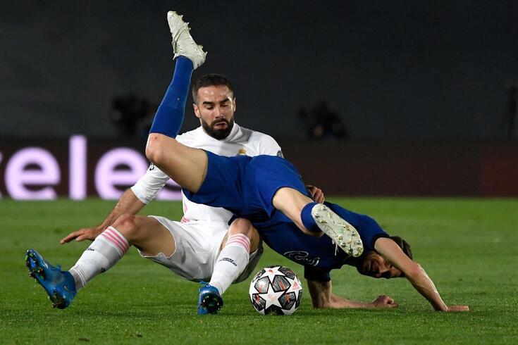 Real Madrid e Chelsea empataram a um golo na primeira mão