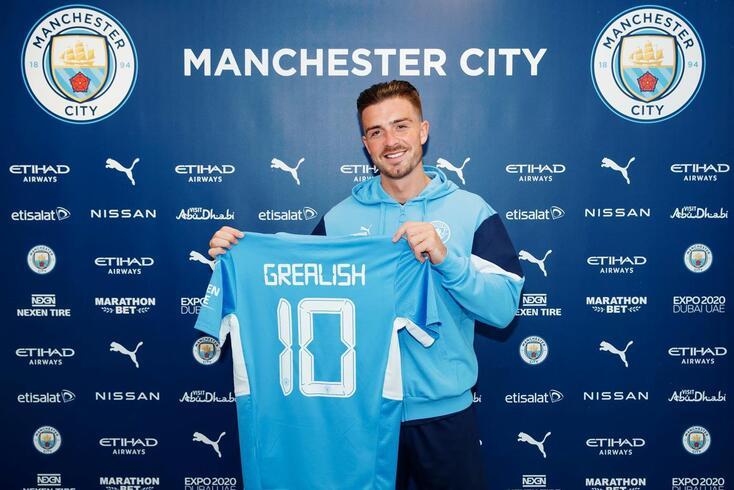 Grealish será o novo número '10' do Manchester City
