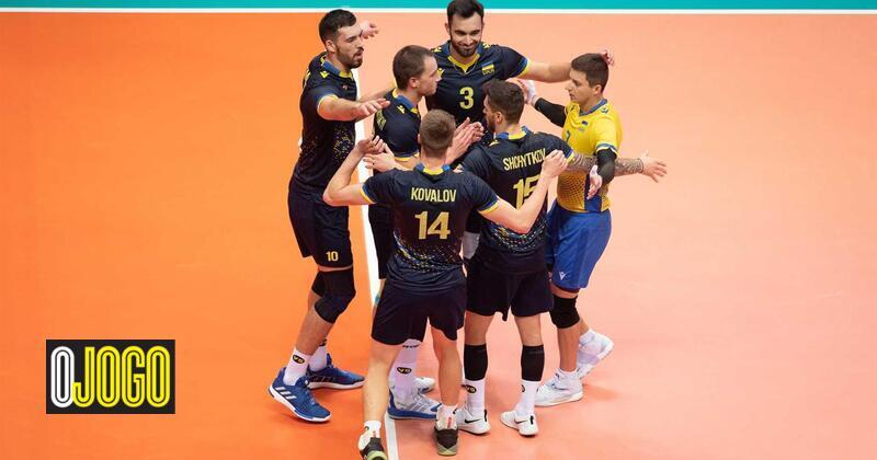 Europeu de voleibol: Ucrânia vence Bélgica e qualifica-se no grupo de Portugal