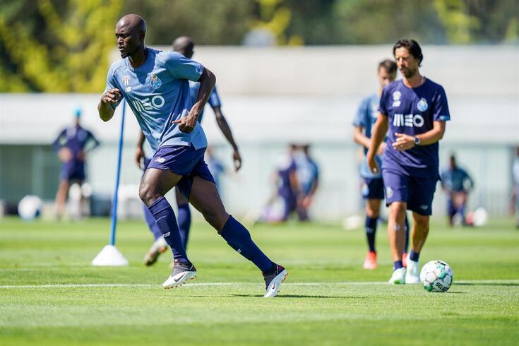 Danilo no primeiro treino da pré-época do FC Porto