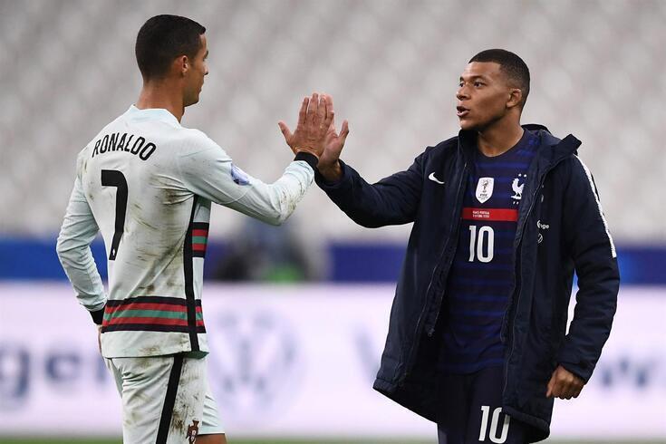 Cristiano Ronaldo e Mbappé