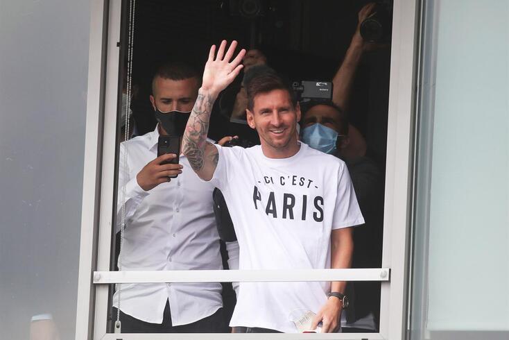Messi já se encontra em Paris