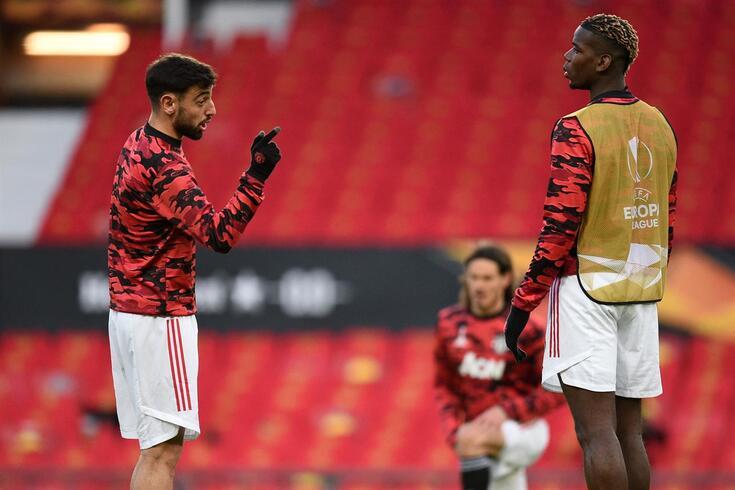 Pogba salienta a importância de Bruno Fernandes