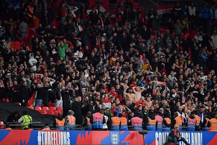 Adeptos da Hungria em Wembley