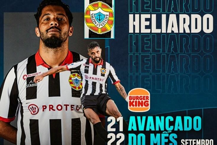 Heliardo foi premiado pelas prestações em setembro na Liga SABSEG