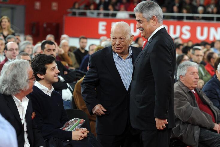 Mário Dias com Luís Filipe Vieira