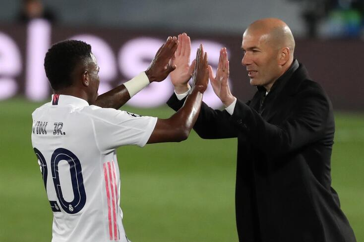 Zidane elogiou Vinícius Júnior
