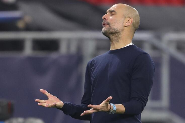 Pep Guardiola, treinador do Barcelona