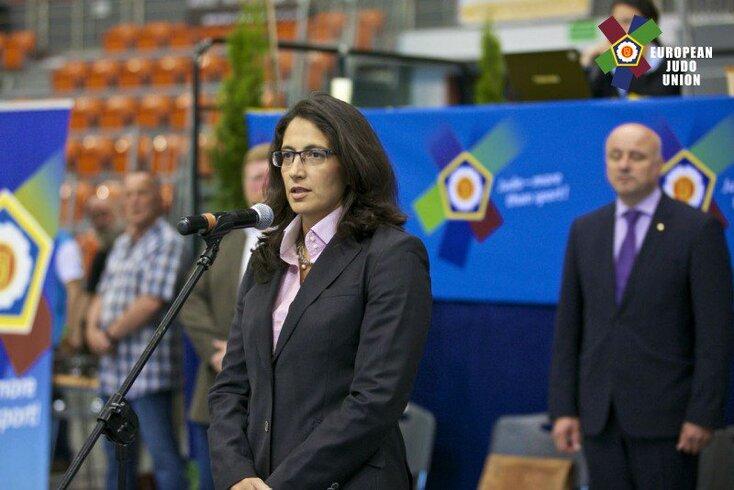 Catarina Rodrigues, diretora desportiva da União Europeia de Judo