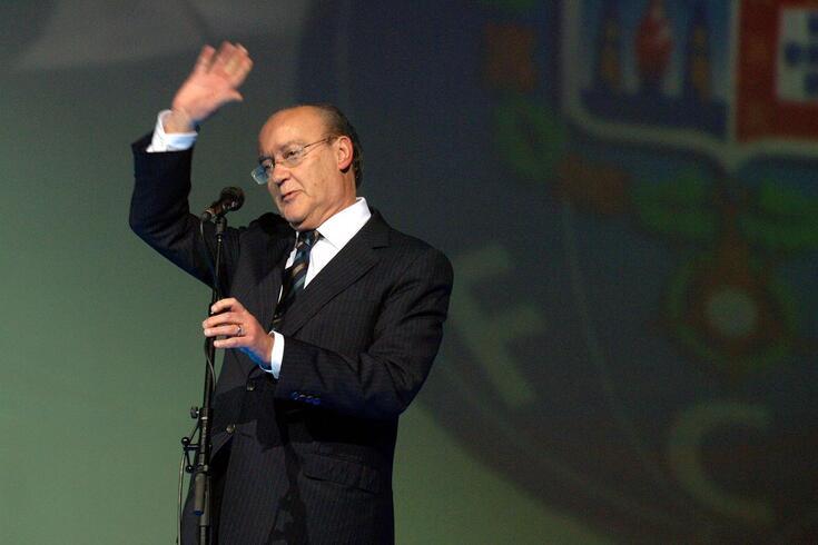 Pinto da Costa na inauguração do pavilhão do FC Porto