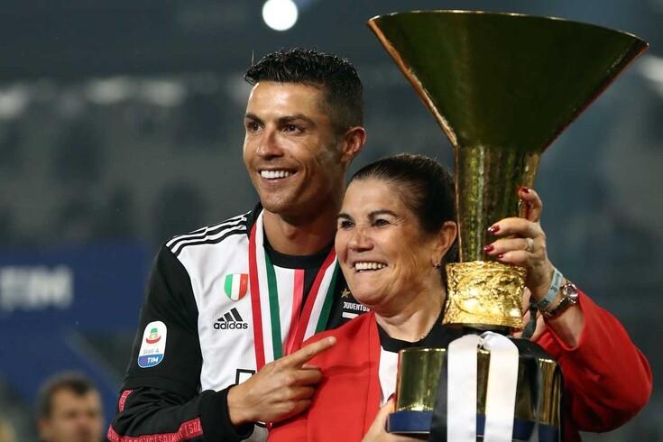 Dolores Aveiro com o filho, Cristiano Ronaldo