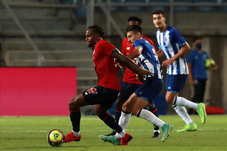 Renato Sanches em ação num particular com o FC Porto