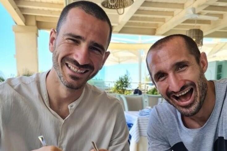 Bonucci com Chiellini