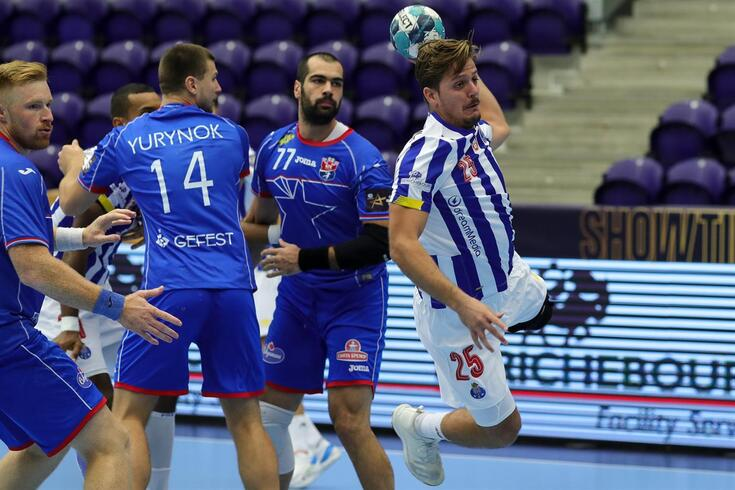 António Areia marcou cinco golos na vitória sobre o Meshkov Brest, em setembro, no Dragão