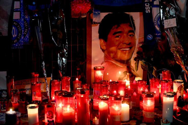Imagem de uma das muitas homenagens a Diego Armando Maradona