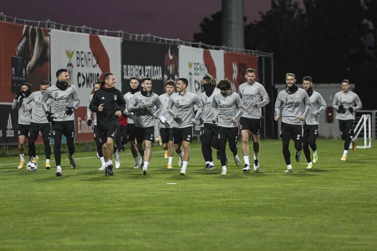 Treino do Benfica no primeiro dia do ano de 2021