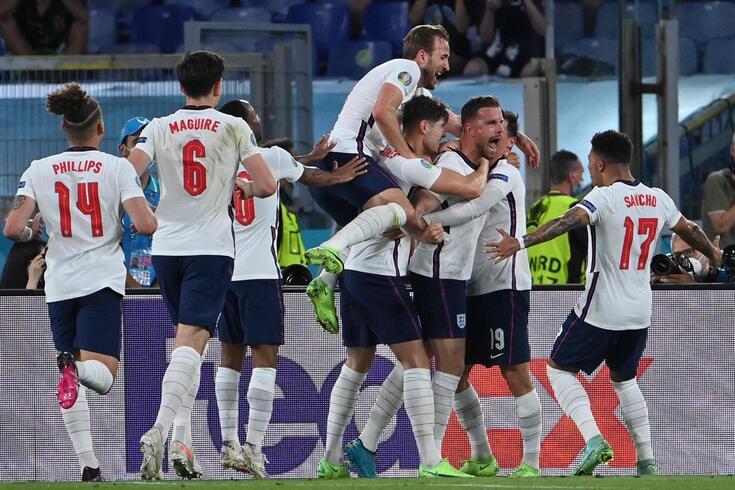 Uma noite de festa para a seleção inglesa