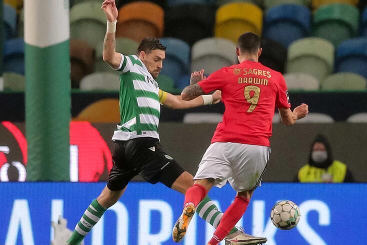 Coates e Darwin no Sporting-Benfica