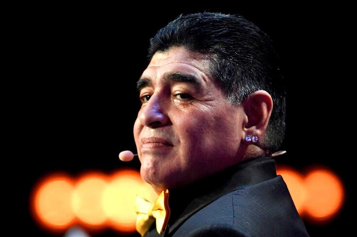 Diego Maradona, figura do futebol mundial