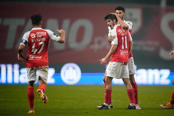 Piazon entrou e ajudou o Braga a chegar ao empate