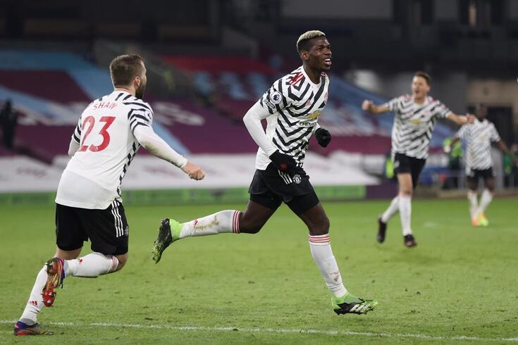 Pogba marcou o golo que colocou o Manchester United na liderança da Premier League