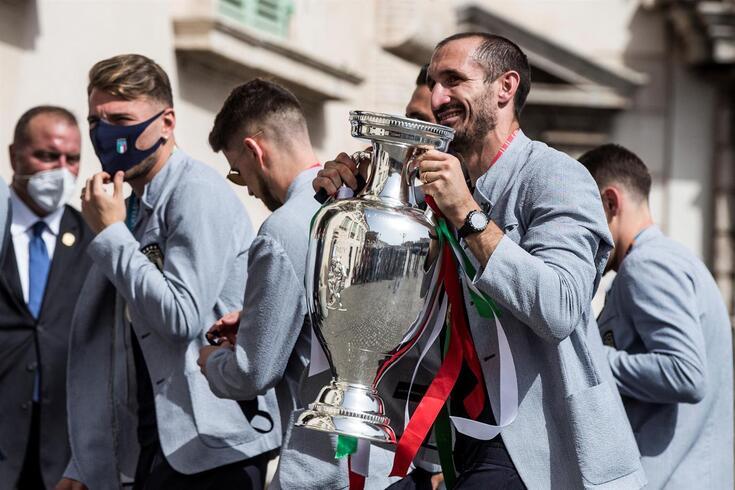 Chiellini ganhou o Europeu pela Itália