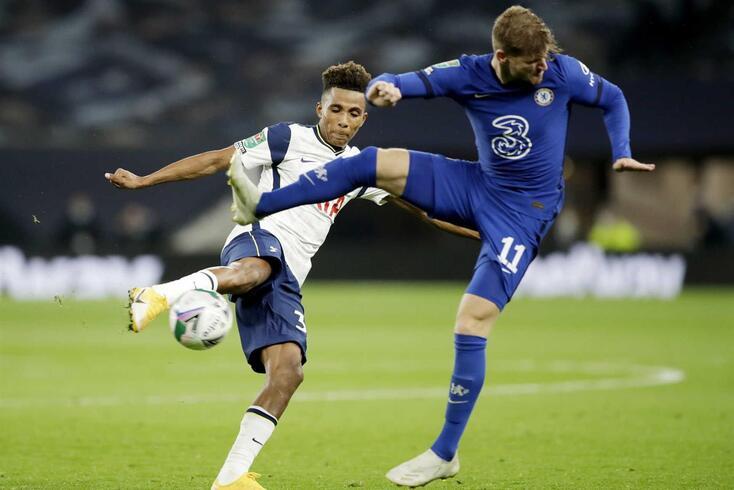 Gedson Fernandes, médio que está cedido pelo Benfica ao Tottenham