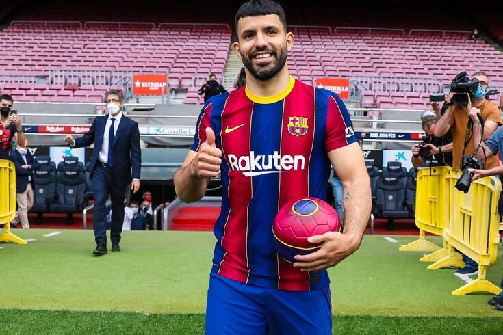 Aguero já vestiu a camisola do Barcelona