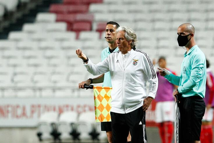 Benfica head coach Jorge Jesus reacts during the friendly soccer match Benfica vs Olympique Marseille