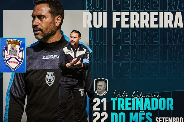 Rui Ferreira, treinador do Feirense, foi eleito o melhor da Liga SABSEG em setembro